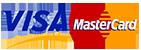 Мы принимаем к оплате карты Visa и Mastercard.